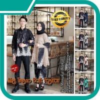 Couple Batik Muslim Kebaya Monaka Brokat Selendang Lengan Panjang