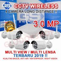PAKET CCTV 4 IP CAMERA 3.0 MEGAPIXEL TERBAIK