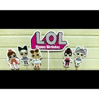 Cake Topper LOL Set / Hiasan Kue Ultah / Topper Cake Karakter LOL