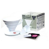 New Hario V60 Plastic Coffee Dripper 02 White VD-02W - Dripper Kopi