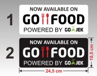 Sticker Go Food vinyl stiker tahan air 24,5 x 10,5 cm