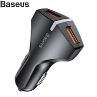 CAR CHARGER BASEUS SMALL ROCKET DUAL USB QUICK CHARGE 3.0