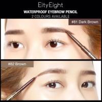 Terlaris Pencil Waterproof Eyebrow Pencil 2 In 1 / Pensil Alis Eity