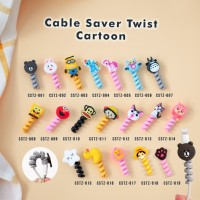 Cable Saver Twist / Pelindung Ujung Kabel Android Apple - CARTOON