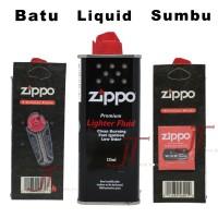 Paket Minyak Zippo Batu Sumbu Zippo Fluid Small Flint Wick