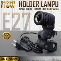 Holder Lampu Socket E27 Dengan Dudukan Payung Lighting Foto Studio