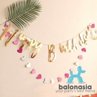 Banner Ulang Tahun Latin / Bunting Flag Happy Birthday