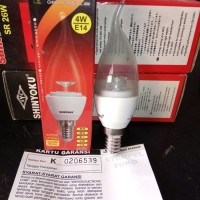 Shinyoku Lampu LED Chilly Crystal 4Watt 4 W E14 Bohlam Kuning