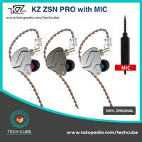 KZ ZSN PRO with MIC In Ear Earphone Headset Hybrid 1BA 1DD HIFI Bass