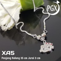HG-XA5 Kalung Anak Hello Kitty Perak Perhiasan Imitasi Xuping Lapi