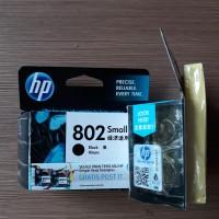 HP 802 SMALL ORIGINAL Free Post IT Black Ink Catridge Hitam kecil