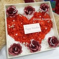 bunga handmade bloom box rose paper flower artificial flower