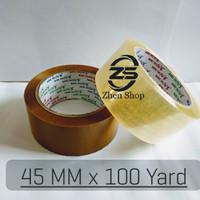 Lakban Bening / Coklat 2 inch / 45 mm / 100 yard kualitas daimaru
