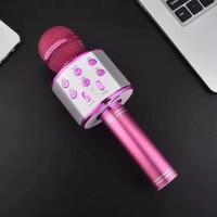 Mic karaoke wireless bluetooth speaker WS858 - mic SMULE karaoke