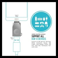 Uneed Zinc Alloy Usb 3.0 Otg Adapter Type C - Uat03Ac Gratis Ongkir