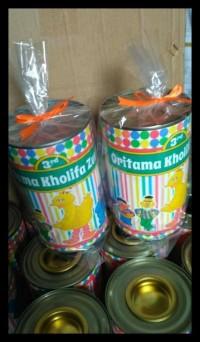 Souvenir Ulang tahun Celengan KALENG BUKA TUTUP ( custom) BERMUTU