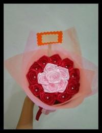 buket bunga mini satin hadiah wisuda sidang ultah valentine SPECIAL