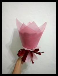 buket bunga mawar mini handmade satin hadiah valentine ultah TERJAMIN
