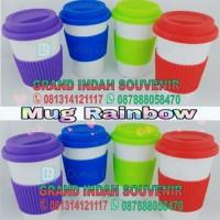 Mug Rainbow Promosi Custom Logo-Souvenir Kantor-Tumbler Promosi