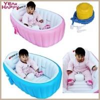 Bak Mandi Bayi + POMPA Tempat Mandi Plastik Karet Intime Baby Bath Tub
