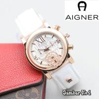 Jual Jam Tangan Wanita / Aigner + Free Box + Batrai Cadangan