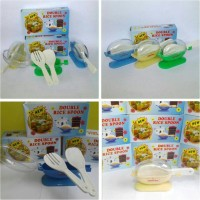 Termurah Centong Nasi Anti Lalat Higienis New Double Rice Spoon Isi 2