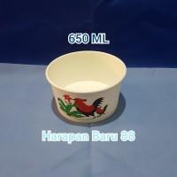 Paper Bowl / Mangkuk Kertas Ayam Jago 650 ML Tanpa Tutup [ Pack ]