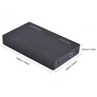 Orico 3588US3 Tool Free USB 3.0 to SATA External Hard Drive Enclosure for 3.5