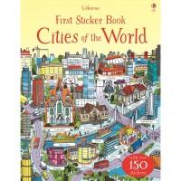usborne sticker book cities of the world - activity book -buku