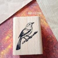 Wooden stamps Bird rubber stempel karet hias scrapbooking crafting art