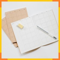 Simple Basic Monthly Planner A5
