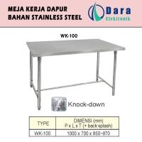 Meja kerja Dapur Stainless Steel Knock Down - WK-100
