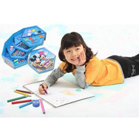 Crayon 4 in 1 Color 46 pcs 4 set Crayon Warna Alat Mengambar Karakter