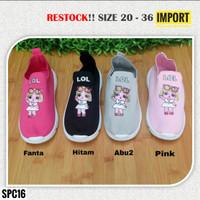 Sepatu Anak Perempuan Slip On LOL Import