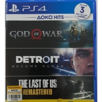 3 Game HITS PS4 God of War, Detroit, The Last of Us