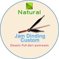 Custom Jam Dinding request Murah Bahan MDF