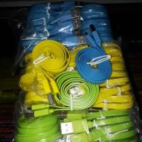 kabel data usb pipih warna 1 meter/non lampu