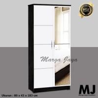 lemari 2 pintu kaca full minimalis lemari pakaian