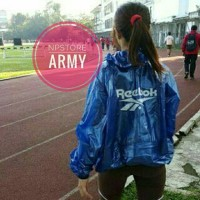 Jas Hujan Olahraga Reebok Transparan
