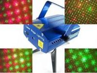 TERBARU Mini Laser Stage Light Multicolor Projector Tripod