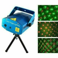 Lampu disco Laser Mini Laser Stage Light Multicolor Projector 12 Patte
