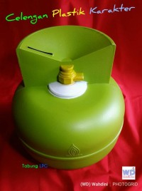 HOT SALE Celengan Anak Plastik Karakter Tabung Gas LPG Terjarmin
