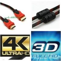 kabel hdmi original 3m full hd gold plate / cable hdmi 3 meter jernih