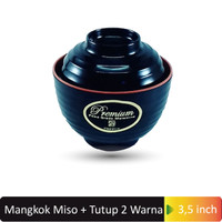 Glori Melamine Mangkok Makan Miso + Tutup ( 2 warna ) Melamin Y4375