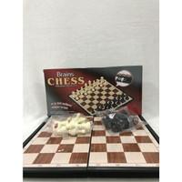 Catur Magnet 30cm x 30cm (Magnetic Brains Chess 8707)