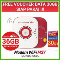 MiFi Router Modem WiFi 4G Smartfren Andromax M3Y Plus TopUp 60K - 25GB
