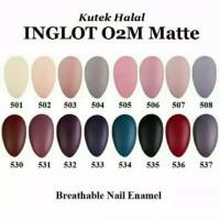 Inglot Breathable Nail Polish O2M Halal - Matte Series (kode 501 dst)