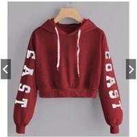 Sweater Wanita / Jaket Sweater -- Vie's Collection SWEATER HOODIE CROP