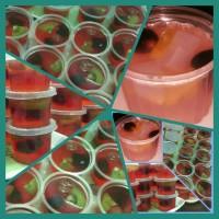 9cups Puding Buah isi Kiwi Anggur Buah Naga