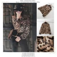 baju atasan motif macan leopard mix kulit
